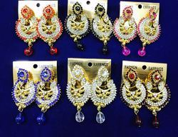 Designer Stone Hanging Indian Chandelier Earrings
