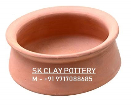 Natural Colour SK CLAY POTTERY clay biryani pot, Capacity: 1000 Pic Par Day, For clay biryani pots