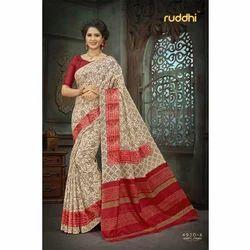 Ladies Silk Fancy Printed Banarasi Saree, Length: 5.5 m