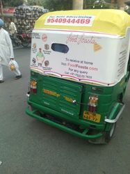 Auto Rickshaw Advertising Rexin Hood, Mode Of Advertising: Outdoor