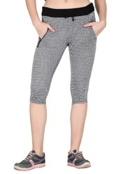 Cotton Trendy Grey Printed Shorts for Girls, Size: S to XXL