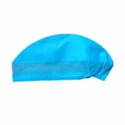 Blue Non Woven Disposable Surgeon Cap, Quantity Per Pack: 100 Pieces, Size: Free Size