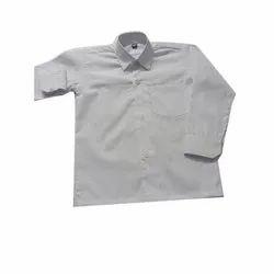 Summer Plain White Cotton School Shirt, 20-24 Inch