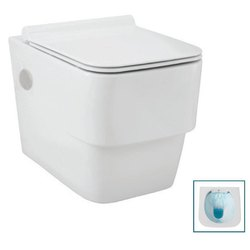 White Jaquar D'Arc Ceramic Rimless Wall Hung Water Closet