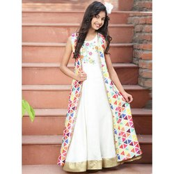 Printed Girl Designer Gown