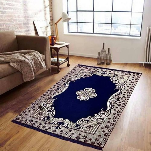 Printed Rectangular Fancy Chenille Room Carpet