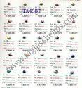 Venetian Blue Chevron Beads