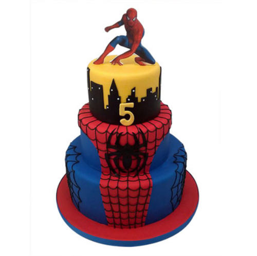 3 Tier Spiderman Cake 5kg