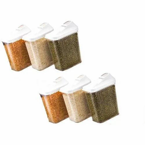Firefork Transparent 750 mL Airtight Plastic Containers