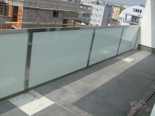 Cable Silver Balcony Glass Railing