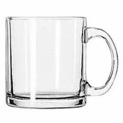 UVAJ Glass Coffee Mug, Size: 9 cm (height), for Home