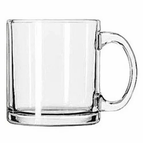 UVAJ Glass Coffee Mug, Size: 9 cm (height), for Home
