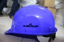 ABS Green and Yellow Alkoplus Ratchet Safety Helmet