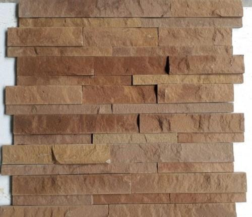 Yellow Sand Stone Wall Cladding Tiles Size 6 X 24 Inches Rs 130