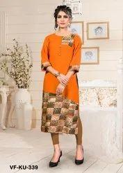 Women Regular Wear Rayon Kurti