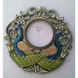 A Beautiful Double Peacock Wooden Wall Clock