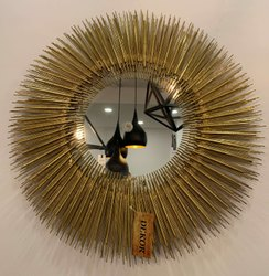 Metal Art Sun Mirror Wall Decor