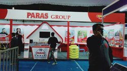 Red & White Exhibition Stall, Packaging Type: Regular