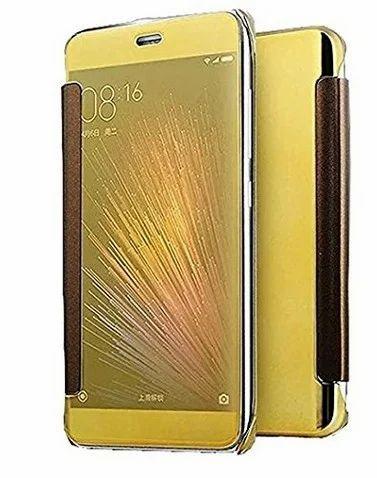 pretty nice 58a86 8c40f Flip Smart Cover Case For Samsung Galaxy C9 Pro Gold