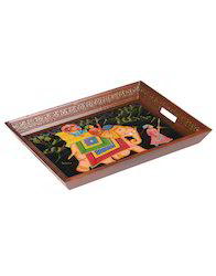 Elephant Hand Painted Table Decorative Tray