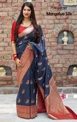 Wedding Latest Stylish Soft Silk Saree by Manjubaa