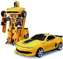 Three Phase Remoot Kids Transformer Robot Car, For Home