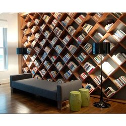 Acme Wood Living Room Wooden Book Case, For Home,Shops