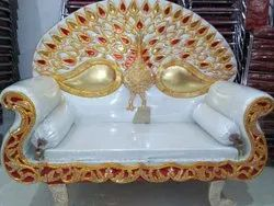 Polished Metal Stage Couch Sofa for Wedding