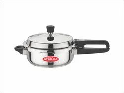 Chrome Finish Stainless Steel Pressure Cooker, Capacity: 2L