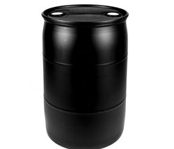Black Round HDPE Chemical Drum, Capacity: 200 L