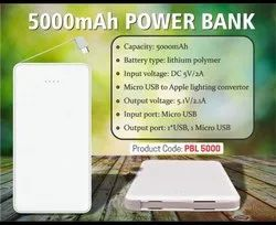 Leather Finish Power Bank 5000 Mah