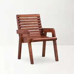 AF International Brown Sheesham Wood Garden Relaxing Chair, Size: 24 Inch, Finish: Polished