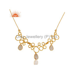 Handmade Gold Plated Designer Gemstone Necklace Jewelry