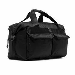 Black Polyster Duffle Bag
