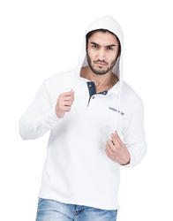 Latest Cotton Blended Hooded Sweatshirt For Men