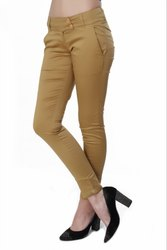 Women\'s Khaki Cotton Pant