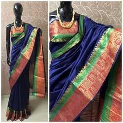 Banarsi Silk Saree, Length: 6.3 m