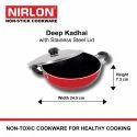 Nirlon 3.6L Deep Kadai With Stainless Steel Lid (Jumbo)