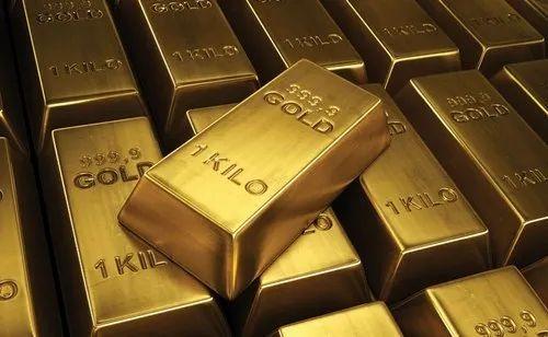 Rectangular Golden 24k Gold Bars For