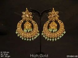 Chand Bali Jhumki Polki Earrings