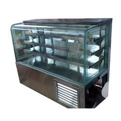 4 Shelf Curved Glass Display Counter