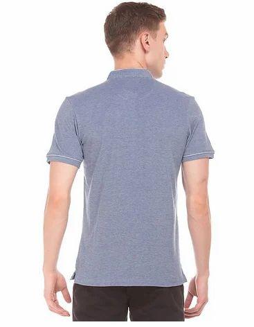 879596ebf Light Blue Mandarin Collar Pique Polo T-Shirt, Rs 1499 /piece   ID ...