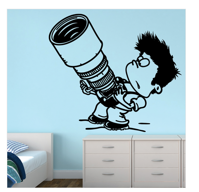 matte finish vinyl kid with camera wall sticker, rs 459 /piece | id