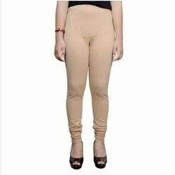 Skin Color (Beige) Ladies Cotton Lycra Churidar Leggings, Casual Wear