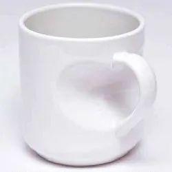 Plain White Inside Heart Mug