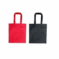 Handled Red And Black Colored Cotton Carry Bag