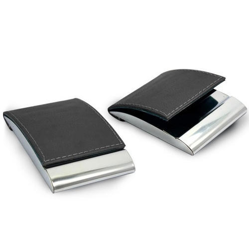 Black Leather Visiting Card Case Rs 80 Piece Aara Leather Goods