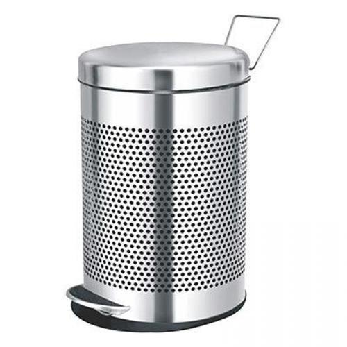 Perforated Stainless Steel Pedal Dustbin