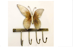 Cloth Hook Screw In U Kumari Butterfly Iron Hook, Powder Coated, Size: 10 X 2.5 X 12 Inch