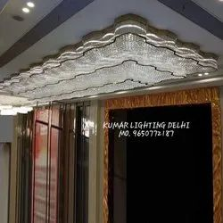 Large Long Crystal Chandelier For Low Ceiling